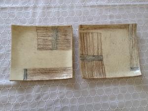 四角平皿-木模様