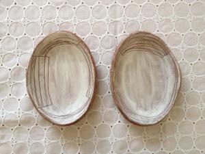 白化粧模様小皿